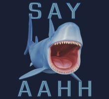 Say Aahh .. a sharks tale Kids Tee