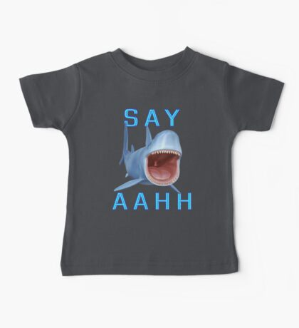 Say Aahh .. a sharks tale Baby Tee