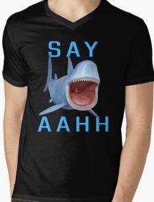Say Aahh .. a sharks tale Mens V-Neck T-Shirt