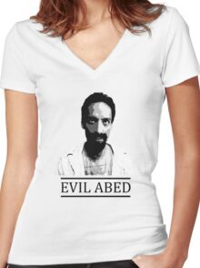 Community - Evil Abed Women's Fitted V-Neck T-Shirt