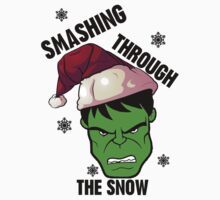 Smashing Through The Snow!(green and black) T-Shirt