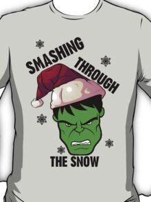 Smashing Through The Snow!(green and black) T-Shirt