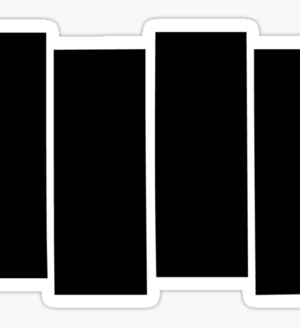 Black Flag shirt Sticker