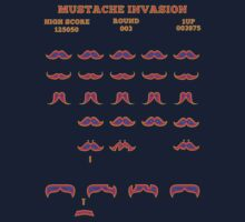 Funny Mustache Invaders Video Game Parody Shirt by xdurango