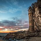 Beach Tower at Sunset by Firesuite