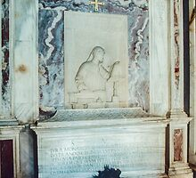 Inside Dante's Tomb Ravenna Italy 198404140046  by Fred Mitchell