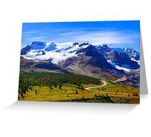 Columbia Icefields, Jasper National Park, Alberta Canada Greeting Card