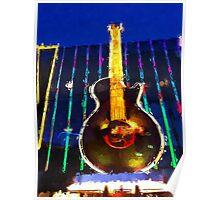 Las Vegas Hard Rock Cafe Poster