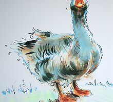 Goose drawing by MikeJory
