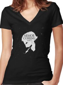 Armored Titan is Coming Women's Fitted V-Neck T-Shirt