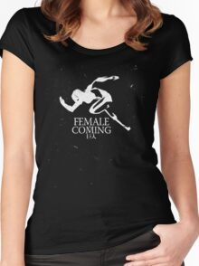 Female Titan is Coming Women's Fitted Scoop T-Shirt
