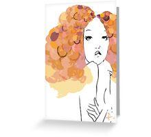 Afro Girl Greeting Card