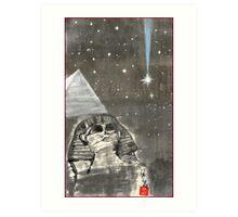 Sphinx and Pyramid II Art Print