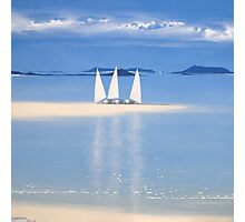 3 sail boats Photographic Print