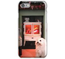 Coton Christmas Fire Place iPhone Case/Skin