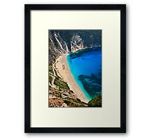 Myrtos beach & Casper the friendly ghost Framed Print