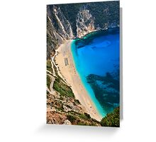 Myrtos beach & Casper the friendly ghost Greeting Card