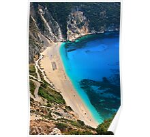 Myrtos beach & Casper the friendly ghost Poster