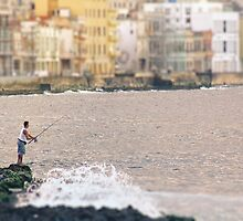 Fishing along the Malecon by areyarey