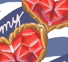 Cross my Hearts Sticker