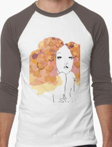 Afro Girl Men's Baseball ¾ T-Shirt