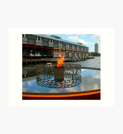 Firey Fish at the Pier Art Print