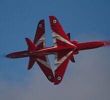 Red Arrows Synchro Cross by Mike Rivett