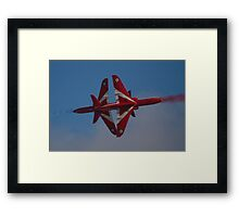 Red Arrows Synchro Cross Framed Print