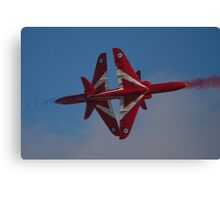 Red Arrows Synchro Cross Canvas Print