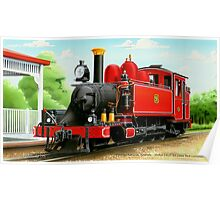 VicRail 2-6-2T   NA-Class Tank Locomotive (9A)  Poster