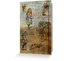 Alice's Adventures Greeting Card