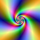 Psychedelic Four Winds Spiral by Objowl