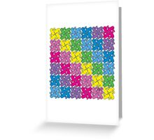 Tessellation Pattern Pinwheeling Stadium GeoBunnies Greeting Card