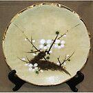 Japanese ceramic plate by Origa