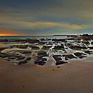 Caves Beach Dawn - pano by bazcelt