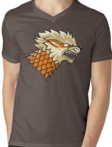 STARKANINE Mens V-Neck T-Shirt