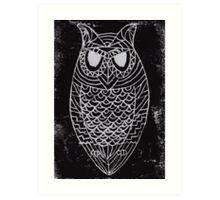 Lino Owl Art Print