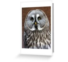 Disapproving look  Greeting Card