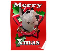 Merry Xmas from Bull Terrier Poster