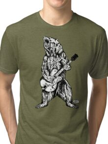 Bear Guitar Tri-blend T-Shirt