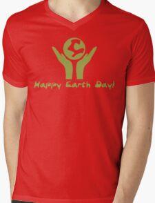 Happy Earth Day! Mens V-Neck T-Shirt
