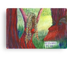 Old Man Willow had a daughter..... Canvas Print