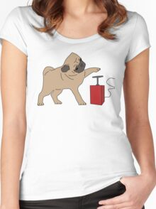 If it's not pugs, then it's the bomb Women's Fitted Scoop T-Shirt