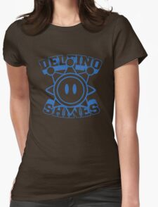 Delfino Shines - Blue Womens Fitted T-Shirt