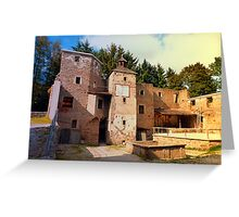 The ruins of Reichenau castle | architectural photography Greeting Card