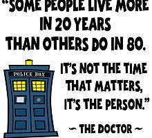Doctor Who, 20 Years vs 80 Years by gotmoxy
