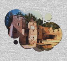 The ruins of Reichenau castle | architectural photography Kids Clothes