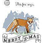 The fox says.. merry X-mas by StudioRenate