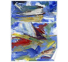 Sailing, abstract oil painting Poster