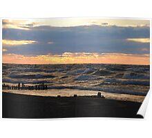 Sunset along Lake Michigan - 1 Poster